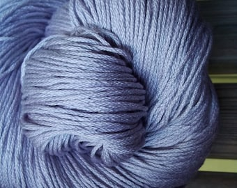 DK Weight Yarn - New Lilac Egyptian Mercerized Cotton - 125 g 249 yards -  Lilac Spring