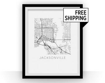 Jacksonville Map Print