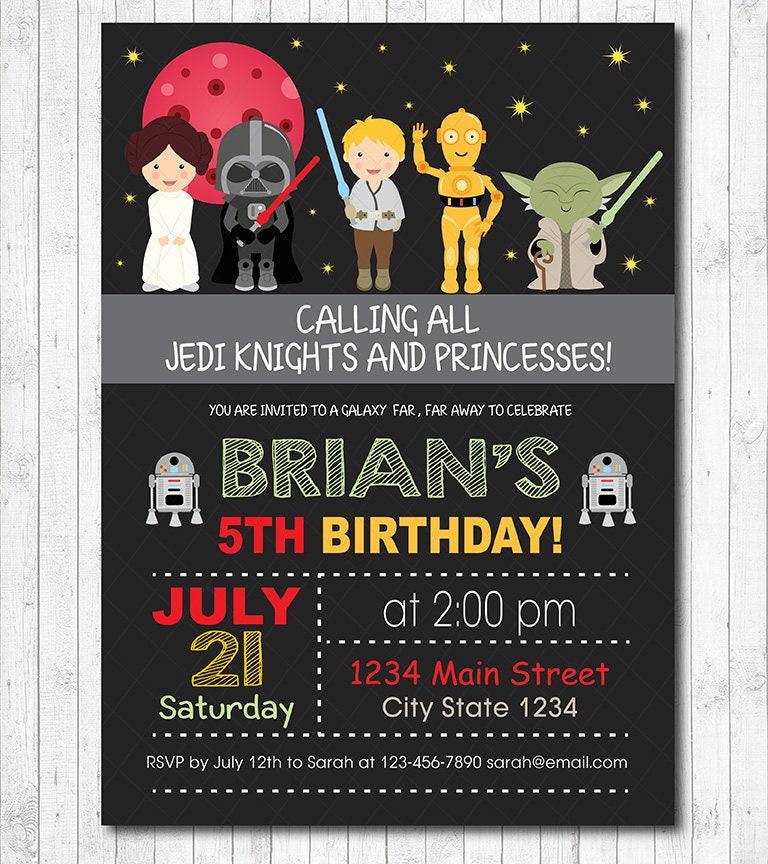 Star Wars Invitation Star wars Invite Star wars birthday