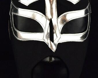 ELEGIDO BLACK Adult Mask Mexican Wrestling Mask Lucha Libre Luchador Costume Wrestler