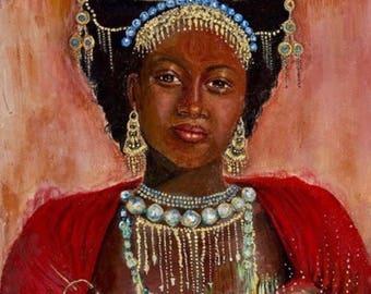 Print // Princess // Queen // African Beauty // Nubian Queen // Feminine Art // Home Decor // Wall Art