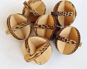 Six Cardboard Balls Set