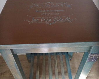SOLD - Hand painted Kitchen Trolley in Rustic Style.