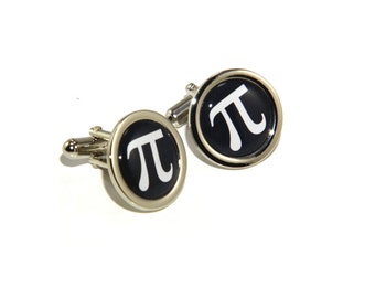 Pi Sign Mathematics Maths Engineering Science Cufflinks - Great Scientific Gift