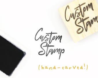 SALE Custom logo stamp, custom design, address stamp, custom logo, custom stamp, logo stamp, website stamp, hand carved stamp, custom design