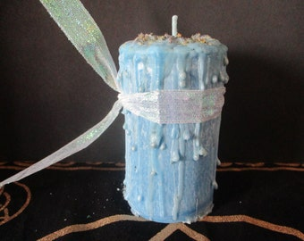 Peaceful Home Candle ~ Spell Candle ~ Witchcraft Candle ~ Wicca Spell Candle ~ Drippy Candle ~ Wicca Ritual Candle ~ Witch's Candle