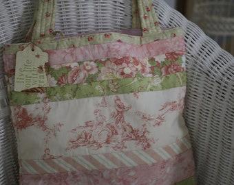 Pink Toile Tote bag