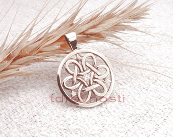 The Wheel of Life. Slavic pendant. Symbol of life. Bronze pendant.