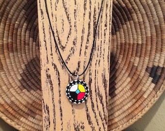Choctaw Medicine Wheel Gourd pendant necklace