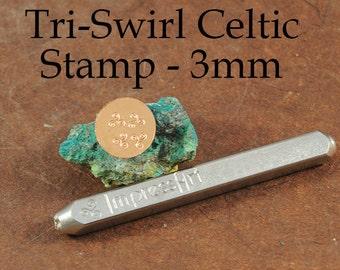 Tri-Swirl - Celtic - Metal Stamp - 3mm - ImpressArt