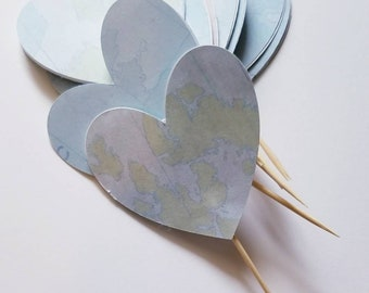 HEART MAP CUPCAKE Toppers Baby shower-Map theme-Travel theme-the world awaits theme