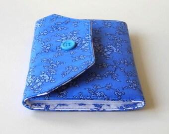 Blue Needle Wallet - Needle Organizer - Sewing Needle Holder - Sewing Supply - Needle Case