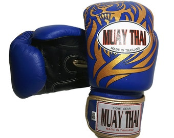 Tiger muay thai glove synthetic leather