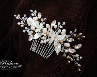 Bridal Hair Comb, Wedding Hair Comb,  Wedding Headpiece, Bridal Hairpiece Wedding