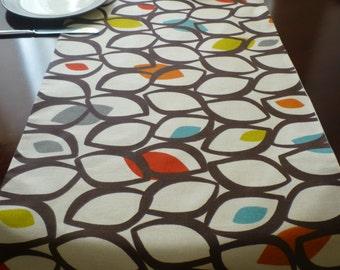 """Orange Long Table Runner Modern Designer Cotton Over 6ft (2mts long-78"""")"""