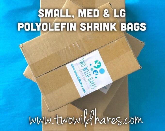 1500 POLYOLEFIN Bag Set, Small/Med/Large,500 ea size, 75g, (Smell Through Plastic) Best Shrink Wrap on the Market!