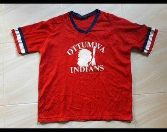 Ottumwa Indians Junior Olympic Softball tshirts Jersey Made Usa