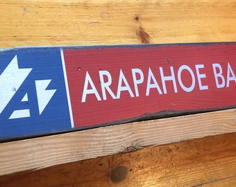Arapahoe Basin Resort Sign, Handcrafted Rustic Wood Sign, Ski Resort Sign, Mountain Decor for Home and Cabin, 1131