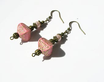 Earrings Asian style roses