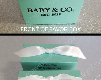 DIY Baby & Co. Favor Box | Personalized Favor Boxes