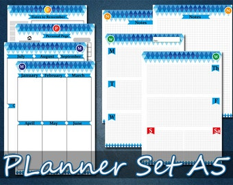 The classic printable planner A5 letter size, arc planner inserts