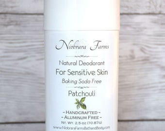 Baking Soda Free Deodorant - Natural Patchouli Deodorant - Aluminum Free Deodorant - Deodorant for Men - Sensitive Skin Deoderant