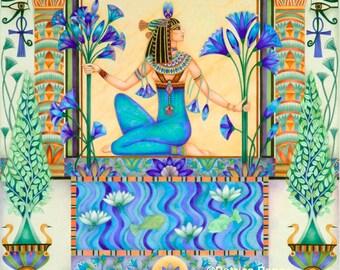 Priestess by the Lotus Pool