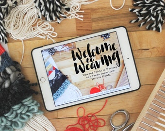 Beginning Weaving Video Class | Welcome to Weaving Video Ebook Course | Learn How to Weave, Online Weaving Videos by Hello Hydrangea