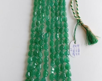 Natural Emerald Oval shape Beads Necklace