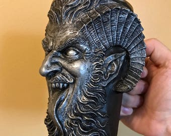 Krampus Mug, Pewter Finish