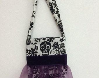 skull tu tu cutes little girls purse