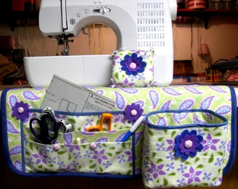 Huge Sale ... Make a Handmade Sewing Mat Organizer Thread Catcher and Pin Cushion...PDF Tutorial Ebook