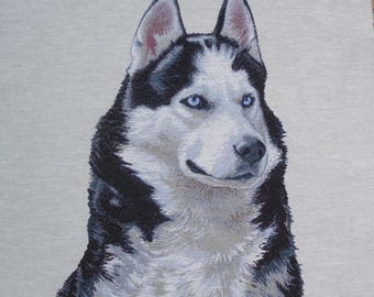 Fabric Panel tapestry HUSKY PORTRAIT coupon