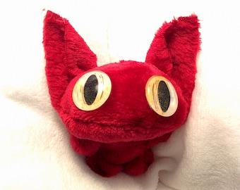 Gremlin Monster Plush, Cute Stuffed Monster, Gremlin Plushie, Handmade, Cuddly, Critter, Creature, Stuffed Animal, Plush Toy, Cute Gift, Art