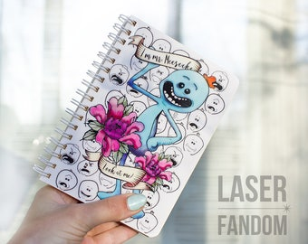 Mr. Meeseeks notebook / Rick and Morty notebook / Pickle Rick / sketchbook / Rick and Morty