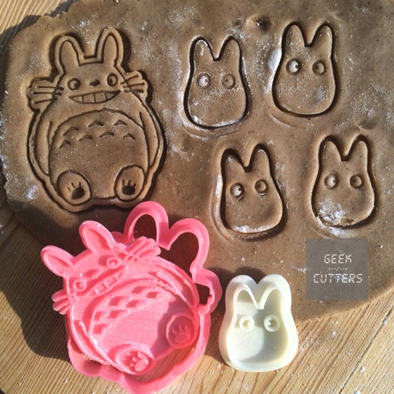 Totoro + Chibi Cookie Cutters Set -  *Dishwasher safe option* - 3D Printed