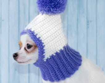Funny Dog Hat Cozy Crochet Dog Hat Warm Knitted Dog Hat Puppy Chunky Hat Small Winter Dog Hat Dog Costume Knit Dog Clothes Dog Hats For Dogs