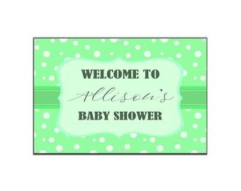 Polka Dot Baby Shower Vinyl Banner