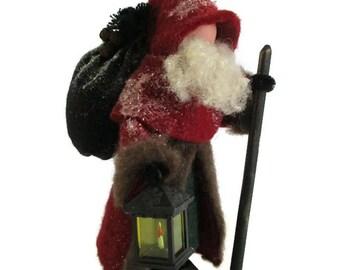 Santa Claus Christmas Ornament, Old World Santa, Clothespin Ornament, European Santa, Vintage Santa, Ornament Exchange, Santa Collector