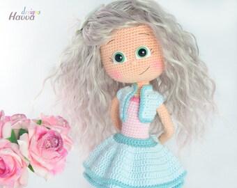 Crochet Pattern - Emily Doll (Amigurumi Doll Pattern)