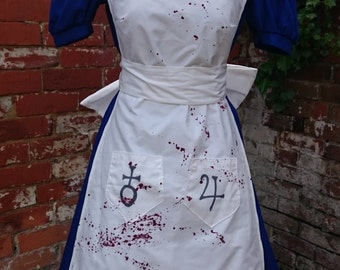 Custom Handmade American McGee's Alice Madness Returns Cosplay Fancy Dress Costume Made to Measure