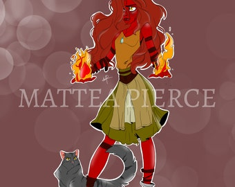 D&D, Dungeons and Dragons, Pathfinder, Custom Original Character with Animal Companion Digital Comissions Art
