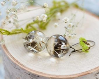 Dandelion Earrings Make a wish / mothers day jewelry/ Dandelion jewelry/ Mom gift /Dandelion Seeds