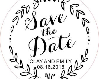 Save The Date Stamp, Save Date Stamp Wedding Stamp, Custom Rubber Stamp, Valentine Stamp, Bridal Stamp, Address Stamp, Personal Stamp, (A)