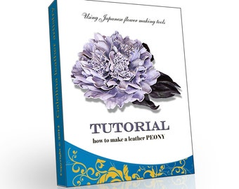 Leather flower making tutorial without flowermaking leather flower making peony tutorial japanese technique pdf e book mightylinksfo