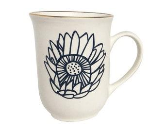 Navy Protea Mug