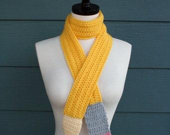 Crochet Pattern - Scarf - Pencil - Back to School - Child - Adult - PDF