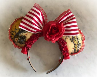 Pirates of the Caribbean Inspired Minnie Mouse Ears