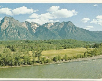 Vintage 1980s Postcard Hazelton British Columbia BC Canada Mount Rocher DeBoule Northern Interior Scenic View Photochrome Postally Unused