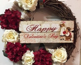 Valentines Day Gift For Wife,  Valentines Gift, Valentines Wreath, Valentines Wall Decor, Valentines Day Wreath Outdoor,  Valentines Decor